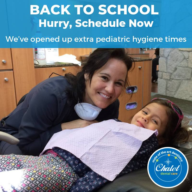 hygienist-Chalet Dental Care-Back to School-St Paul dentist-dental hygiene appointments